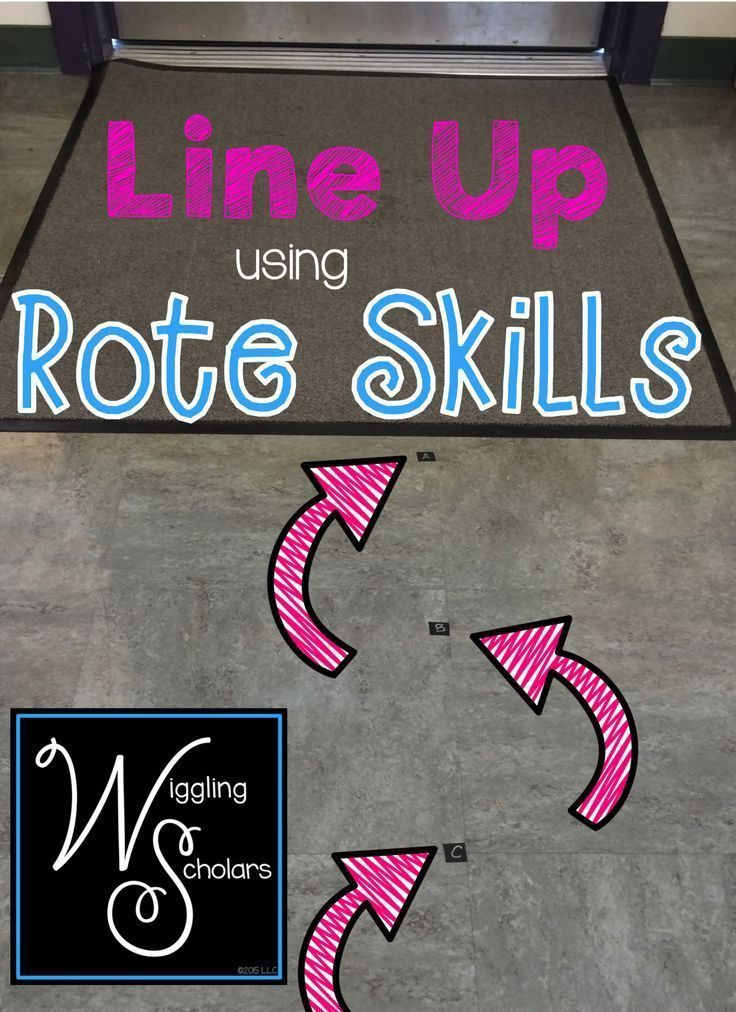 Line Up Using Rote Skills: simple tip that makes the most of learning opportunities all day long!