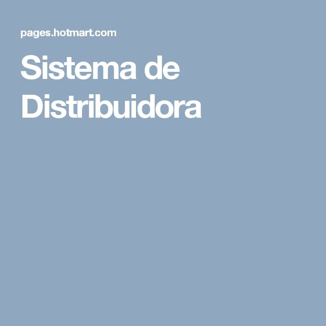 Sistema de Distribuidora