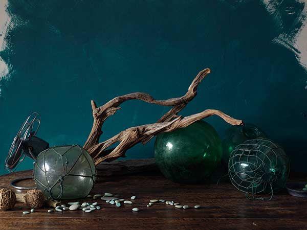 Boyas marinas antiguas de vidrio soplado.