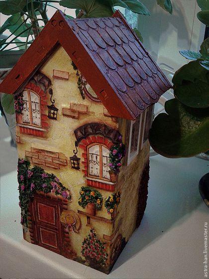 Чайный домик - бежевый,чайный домик,подарок на любой случай,деревянная заготовка
