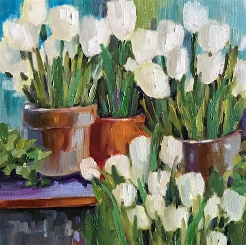"""Daily Paintworks - """"Perfect Pots"""" - Original Fine Art for Sale - © Libby Anderson"""