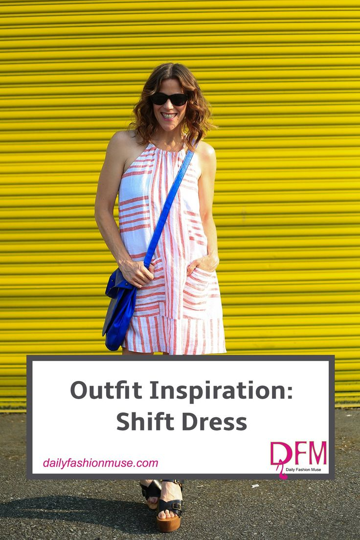 A lightweight shift dress is the perfect solution for those sweltering hot days. Check Old Navy for super affordable dresses.