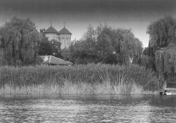 Snagov monastery as seen from the lake.