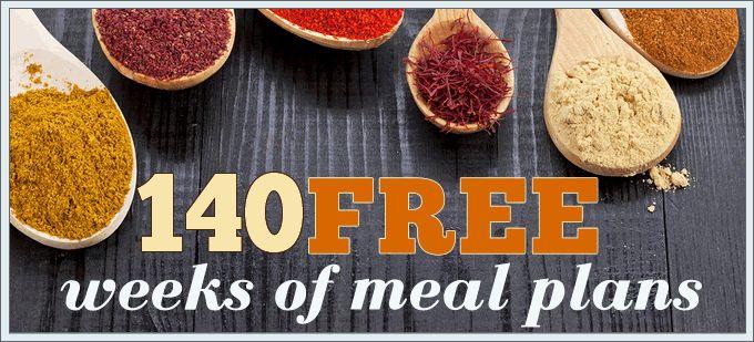 140 Free Weekly Meal Plans