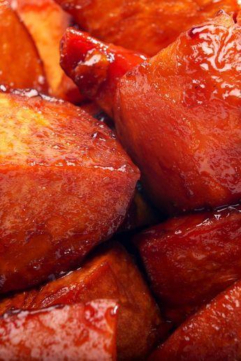 5 Ingredient Brown Sugar and Maple Glazed Sweet Potatoes Recipe - Gluten Free