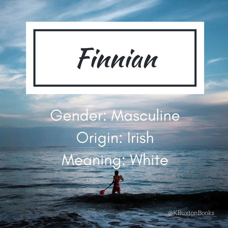Finnian - boy's name