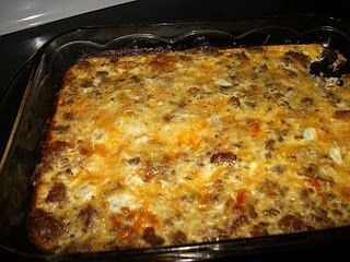 Low carb breakfast casserole. ~We love this casserole!  I use Turkey sausage though.~
