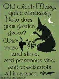 With witches brew...