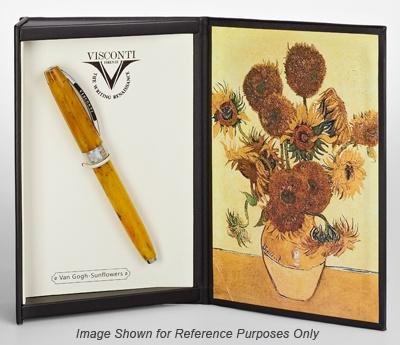 Visconti Van Gogh Impressionist Sunflowers Broad Point Fountain Pen #wantPens Galore, Inspiration Pens, Af Pens, Fountain Pens, Visconti Vans, Van Gogh, Vans Gogh Sunflowers, Sunflowers Boxes, Visconti Pens