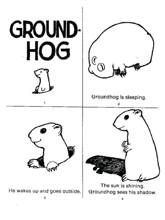 This Is A Free Groundhog Day Coloring Page Available On