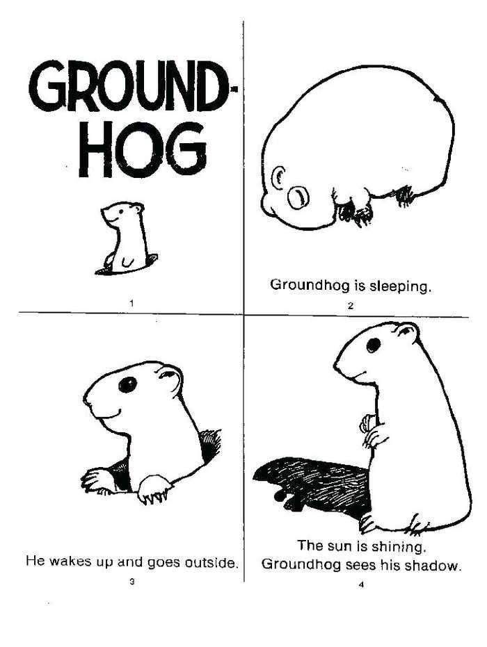 Groundhog Coloring Pages Preschool Preschool Groundhog
