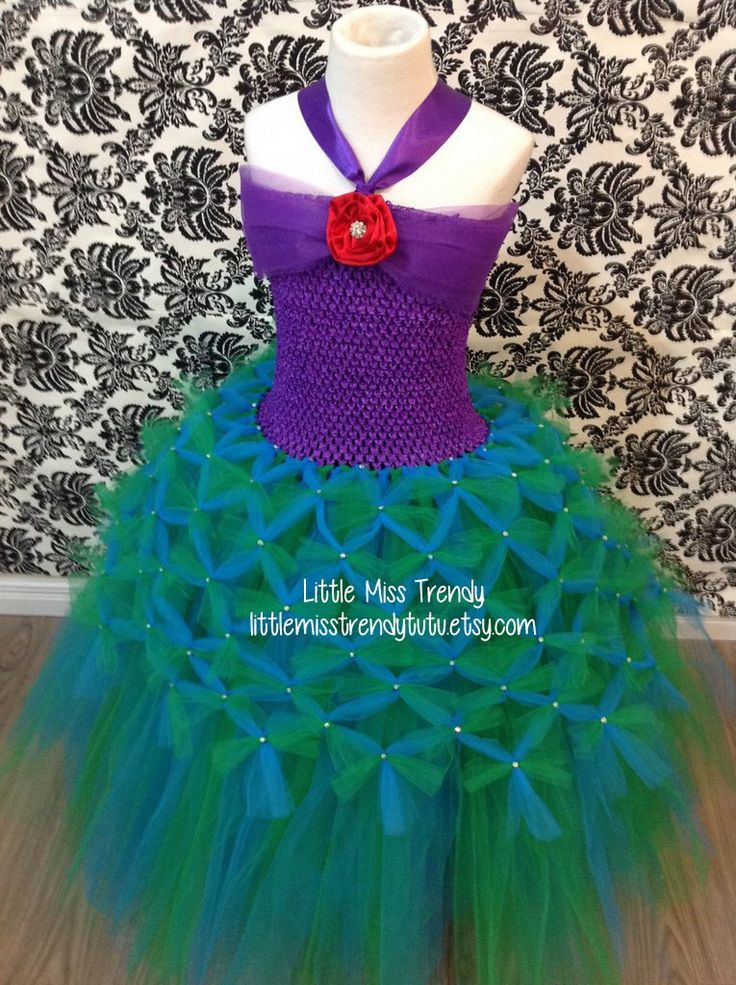 The Little Mermaid Inspired Tutu Dress, Little Mermaid Tutu Dress, Ariel Tutu Dress, Mermaid Tutu Dress, Ariel Dress, Ariel Tutu, Ariel by LittleMissTrendyTutu on Etsy https://www.etsy.com/listing/473326795/the-little-mermaid-inspired-tutu-dress