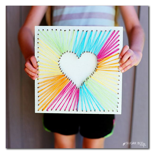 Test out your string art skills by surprising Mom with this beautiful craft on Mother's Day.