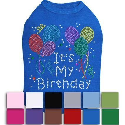 Its My Birthday Rhinestone Dog Shirt