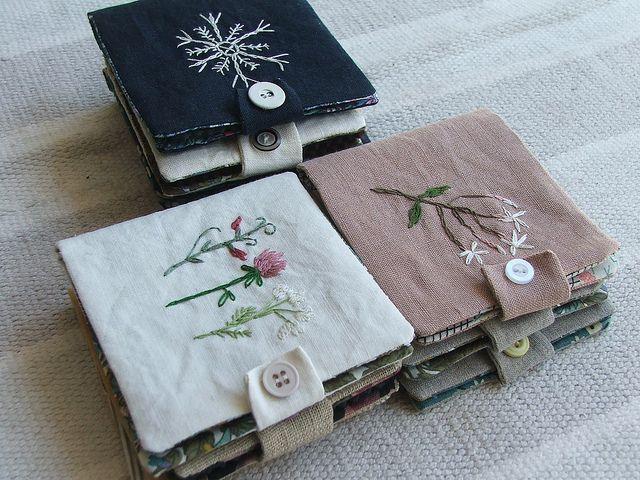 needlebook stack by tiny happy, via Flickr