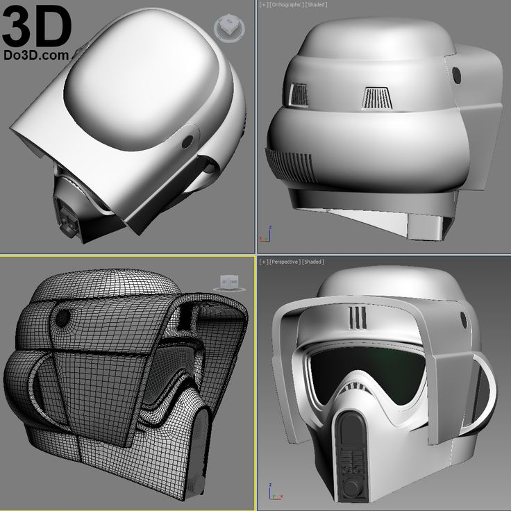 3D Printable Model: Scout Trooper Biker Scouts helmet Star Wars| Print File Formats: STL OBJ – Do3D.com