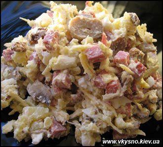 Рецепт салата мужской каприз с грибами