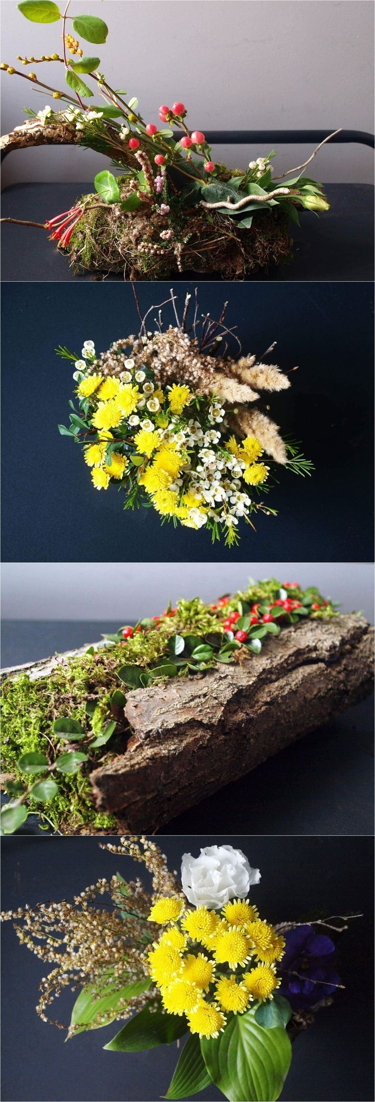 In every wedding at any time of the year have something special because they get to use to their advantage the amazing weather and the multitude of colors that are available this time of the year. This definitely makes it easier when it comes to choosing the centerpieces and the table décor. Here is a ideas of a forest floral decoration for a table.
