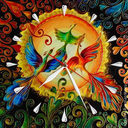 """Часы для дома ручной работы. Ярмарка Мастеров - ручная работа Часы """"Счастье быть вместе"""". Handmade."""