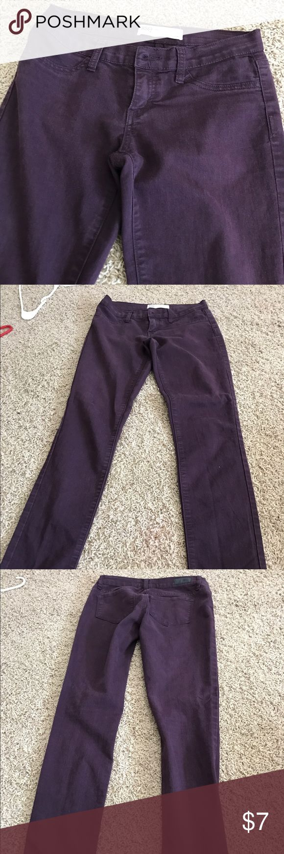 Purple skinny jeans! Nice purple skinny jeans! These are also comfy on the inside and are a fun color for both spring and fall! Jeans Skinny