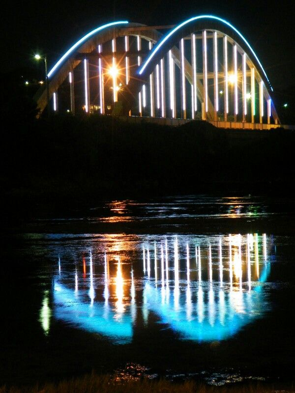 Bridge at night, Port Alfred, Eastern Cape, South Africa, 2010.