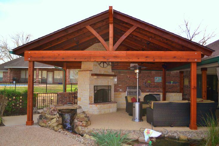 Outdoor Kitchen Pavilion Fireplace Pavilion Outdoor