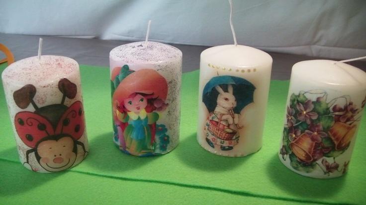 κερια με decoupage
