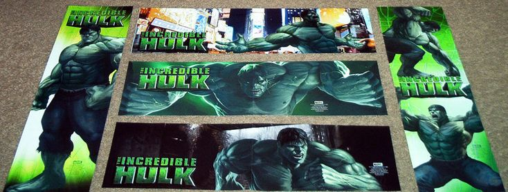 LOT 5 INCREDIBLE HULK POSTERS AVENGERS MARVEL BRUCE BANNER GREEN RAMPAGE SMASH