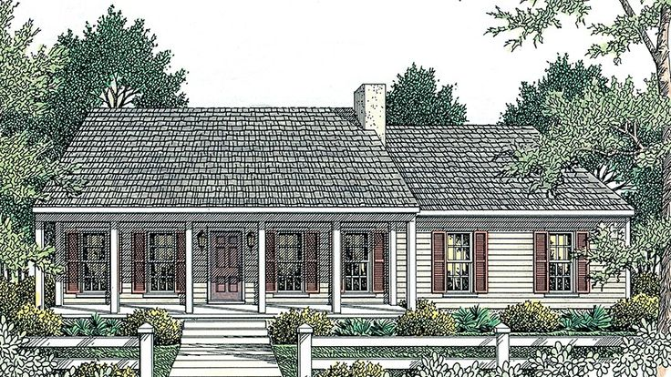 Home plan homepw17856 1492 square foot 3 bedroom 2 for Single story cape cod house plans