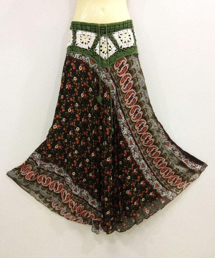Falda Larga Maxi Bohemio Gitano campesino Oliva Crochet Rayón Floral Casual de Verano S-XL | Ropa, calzado y accesorios, Ropa para mujer, Faldas | eBay!