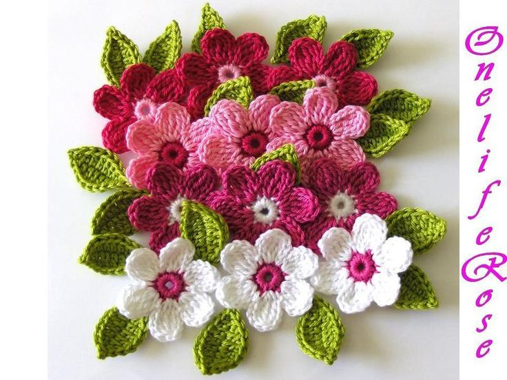 Basic Crochet Flower Patterns Free : Free Crochet Patterns to Print CROCHET CROCHETED FLOWER ...