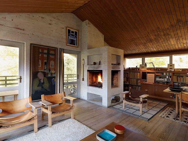 Borge Mogensens / Bo Bedre {danish mid-century modern rustic living room} by recent settlers, via Flickr