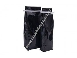 500G SHINY BLACK - SIDE GUSSET BAGS WITH TIN TIE