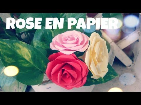 Comment faire une ROSE en papier (Tres facile) - YouTube