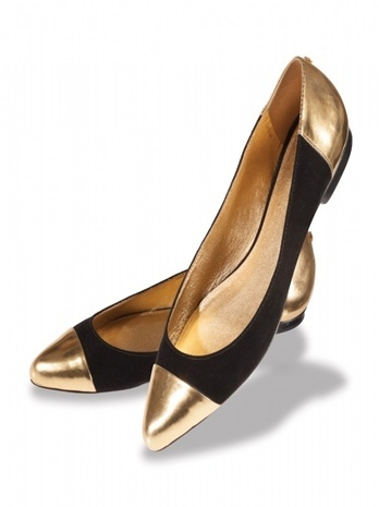 Shoe Crush and its Alternatives: Kate Spade's Black and Gold Ballet Flats #katespade