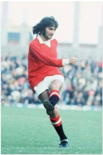 The legend that is 'George Best', a name and talent within football that has transcended generations with his ability and legacy as a footballer. This photographic moment by Mirrorpix shows George Best in his prime playing for Manchester United in 1971.