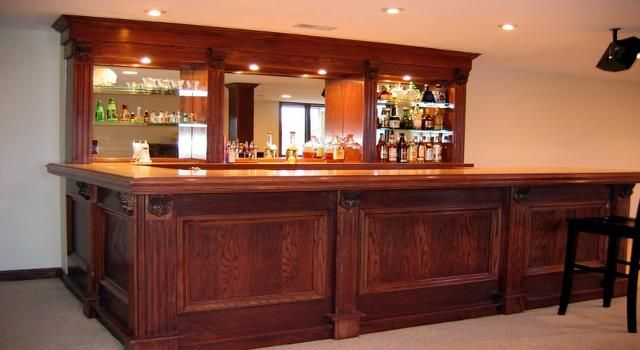 17 best images about basement bars on pinterest basement bars corner shower stalls and home - Simple home bar designs ...