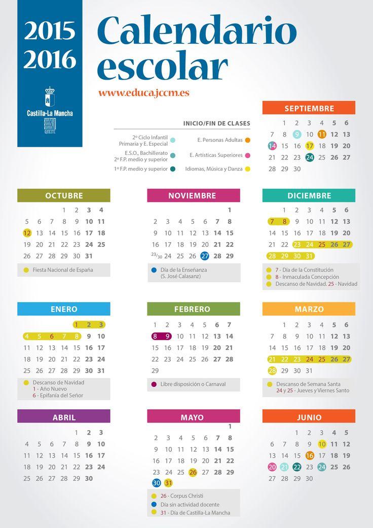 Calendario Escolar 2015/2016 | Portal de Educación de la Junta de Comunidades de Castilla - La Mancha
