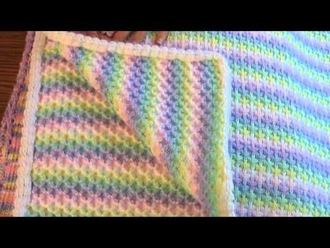 Round Baby Blanket on the Knitting Machine by Carole Wurst - YouTube