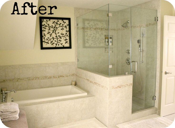 How to remove the outdated garden tub and enlarge the tiny for Bathroom designs without tub