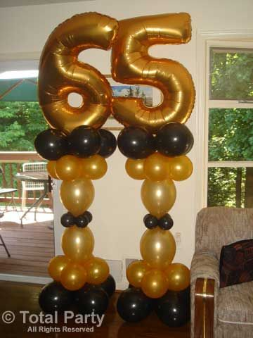 Portfolio milestone birthdays total party llc for 65th birthday party decoration ideas