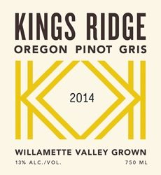 Kings Ridge 2014 Pinot Gris (Willamette Valley) Rating and Review | Wine Enthusiast Magazine