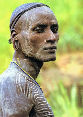 Africa |  People.  surma-bachelor ... dignified purpose ... <3 www.24kzone.com