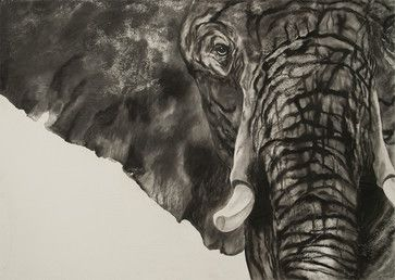 Majestic Strength Original shown 5ftx2.5ft in size - transitional - Drawings And Illustrations - Seattle - Living Tones Fine Art