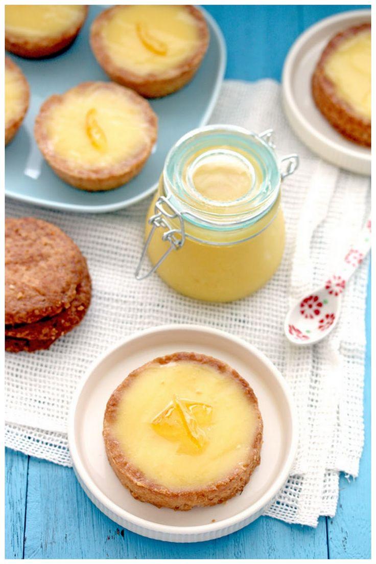 Lemon Curd Tartlettes with Sugar Cookie Crust