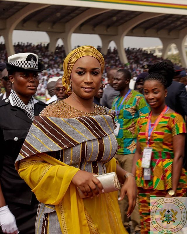 Arrival of the second Lady @sbawumia to the independence square