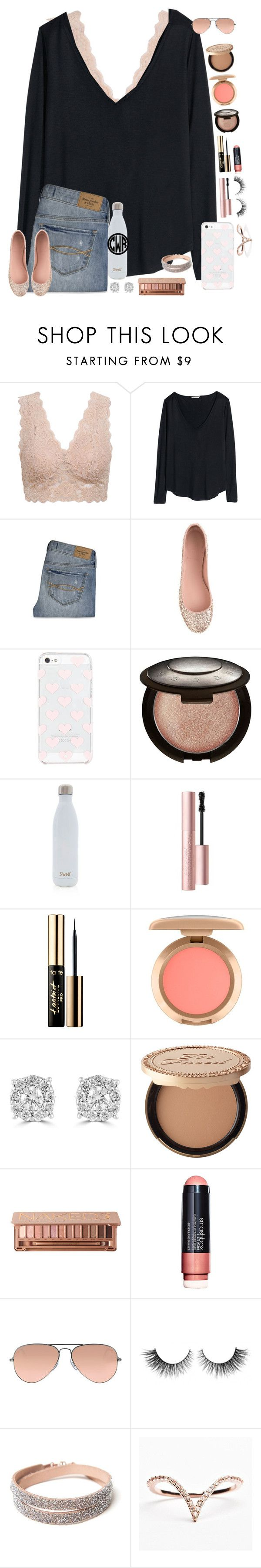 """""""i am a child of the moon being raised by the sun in a world walked by stars and a sky drawn with flowers"""" by taylor-austinxoxo ❤ liked on Polyvore featuring H&M, Abercrombie & Fitch, J.Crew, Kate Spade, Becca, S'well, Too Faced Cosmetics, tarte, Effy Jewelry and Urban Decay"""