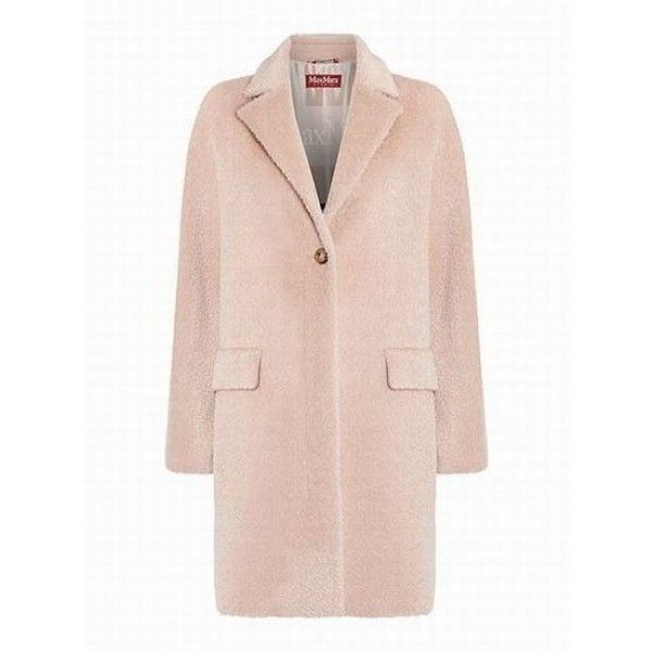 Orlo button up alpaca coat|Beige Max Mara Womens Jackets Stylish Cheap... ($195) ❤ liked on Polyvore featuring outerwear, coats, pink coat, beige coat, alpaca coat, alpaca wool coats and button up coat
