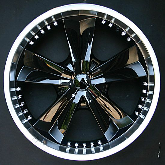 Black Car With Chrome Rims Find The Classic Rims Of Your