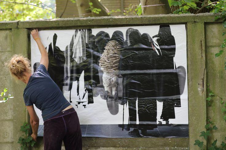 billboard series Insight Out, Marieke Bolhuis, monastery wall NL